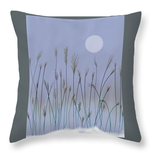 Landscape Throw Pillow featuring the digital art Changing Season by Dennis Casto