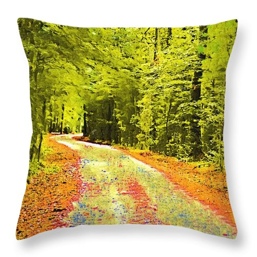 Forest Throw Pillow featuring the photograph Changing Seasons by Donna Bentley