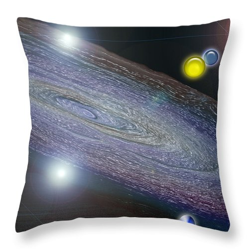 Galaxy Throw Pillow featuring the photograph Changing Universe by Donna Proctor