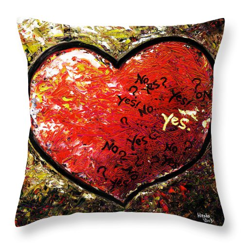 Pop Throw Pillow featuring the painting Chaos In Heart by Hiroko Sakai