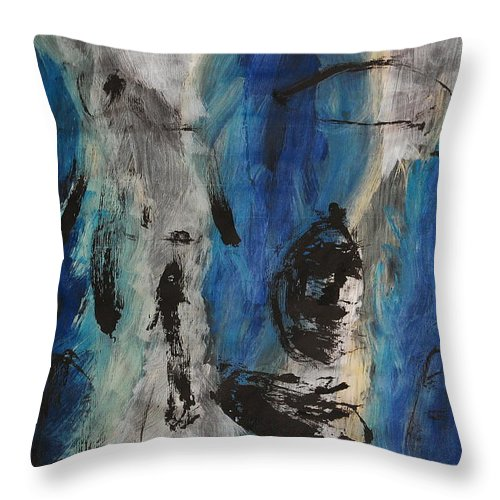 Abstract Throw Pillow featuring the painting Chaos by Lauren Luna