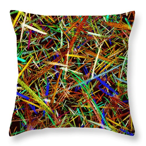 Lines Throw Pillow featuring the digital art Chaos Theory 2 by Andy Mercer