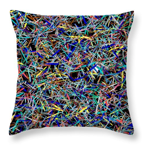Lines Throw Pillow featuring the digital art Chaos Theory by Andy Mercer