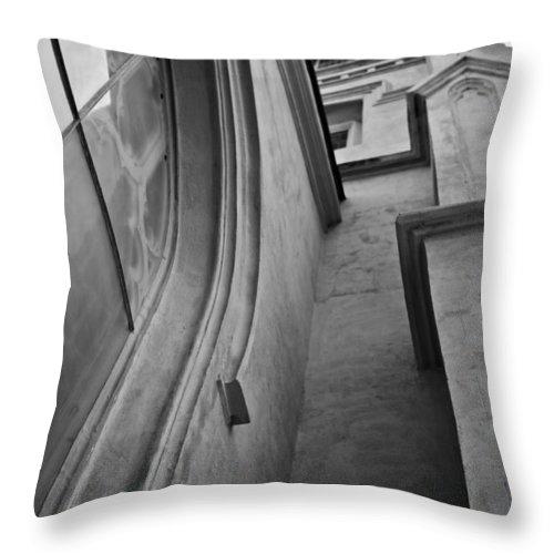 Charleston Throw Pillow featuring the photograph Charleston Unitarian Church Window Perspective by Dustin K Ryan