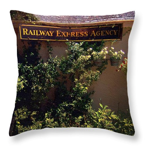 Landscape Throw Pillow featuring the painting Charming Whimsy by RC DeWinter