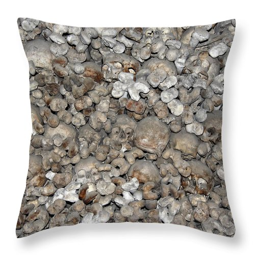 Charnel House Throw Pillow featuring the photograph Charnel House by Michal Boubin