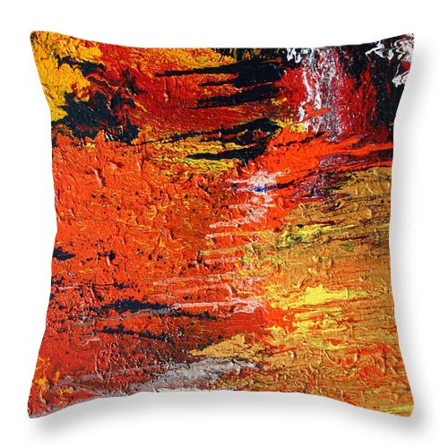 Fusionart Throw Pillow featuring the painting Chasm by Ralph White