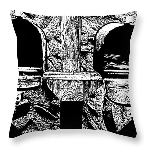 Mail Throw Pillow featuring the photograph Check Day by Albert Stewart