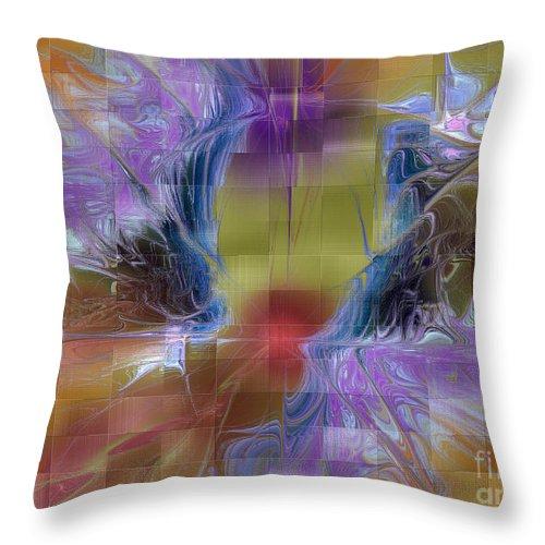 Digital Throw Pillow featuring the digital art Checker Square Design by Deborah Benoit