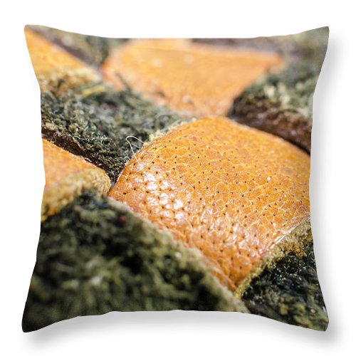 Checkered Throw Pillow featuring the photograph Checkered by Kevin Gallagher