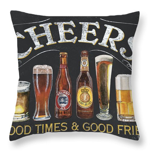 Cheers Throw Pillow featuring the painting Cheers by Debbie DeWitt