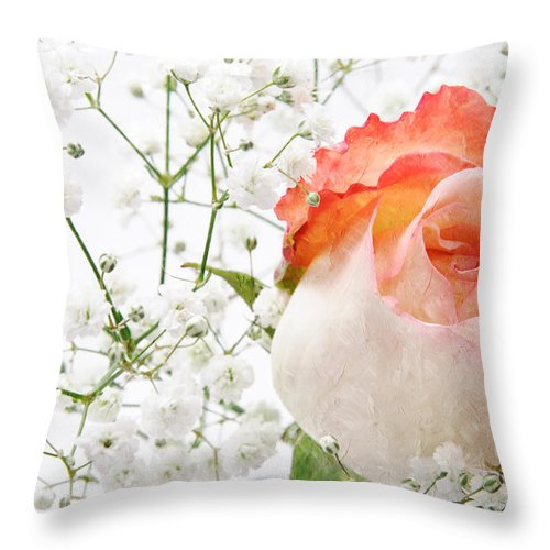 Pink Rose Throw Pillow featuring the photograph Cherish by Andee Design