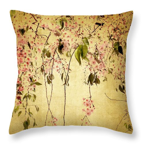 Flower Throw Pillow featuring the photograph Cherry Blossom by Jessica Jenney