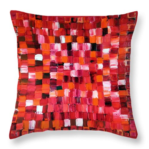 Art Throw Pillow featuring the painting Cherry Pie by Dawn Hough Sebaugh