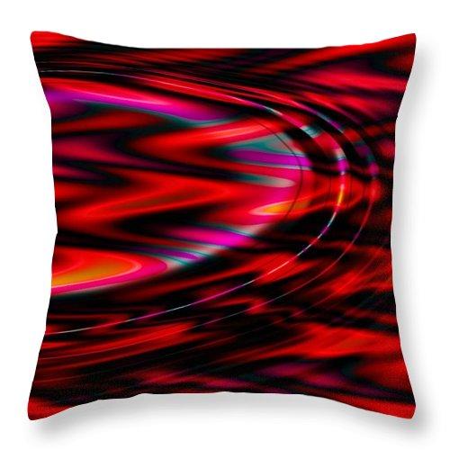 Wave Throw Pillow featuring the digital art Cherry Red by Robert Orinski