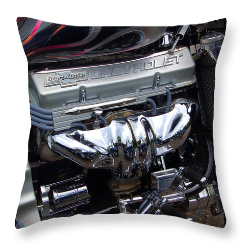 Diane Berry Throw Pillow featuring the photograph Chevrolet 400 Hp by Diane E Berry