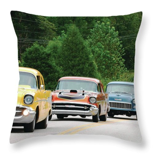 Chevrolet Throw Pillow featuring the digital art Chevrolet by Zia Low
