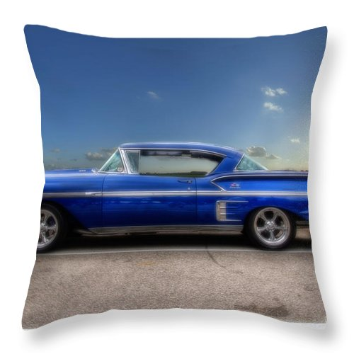 Chevy Throw Pillow featuring the photograph Chevy Impala by Joel Witmeyer