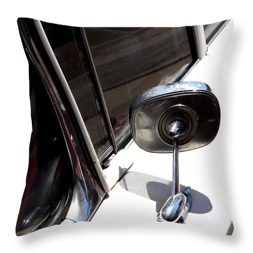 Biscayne Throw Pillow featuring the photograph Chevy Looking Back by Amanda Barcon
