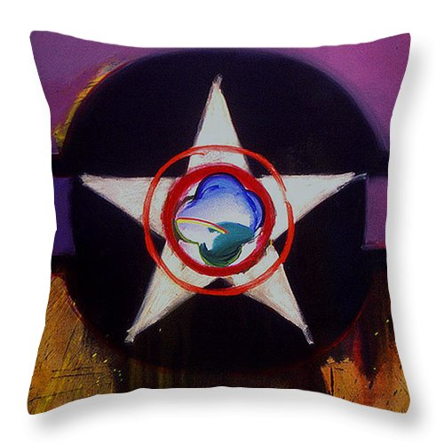 Air Force Insignia Throw Pillow featuring the painting Cheyenne Autumn by Charles Stuart