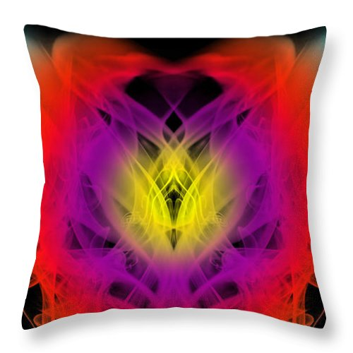 Clay Throw Pillow featuring the digital art Chi by Clayton Bruster