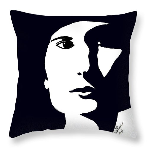 Chic Throw Pillow featuring the drawing Chic by Donna Proctor