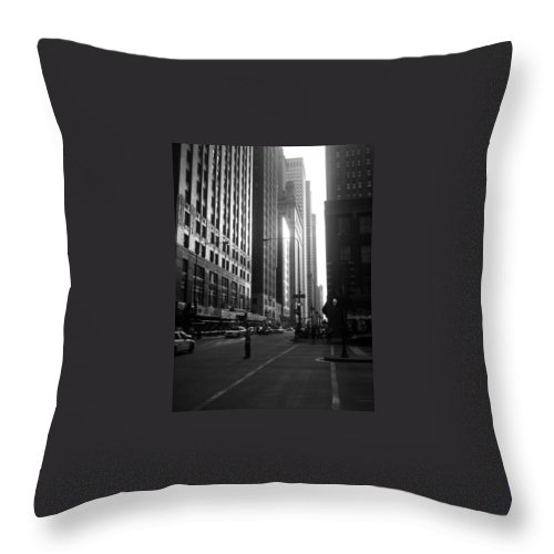 Throw Pillow featuring the photograph Chicago 2 by Samantha L