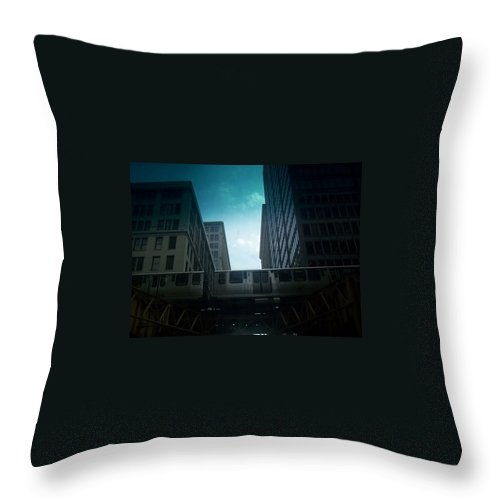Throw Pillow featuring the photograph Chicago 5 by Samantha L