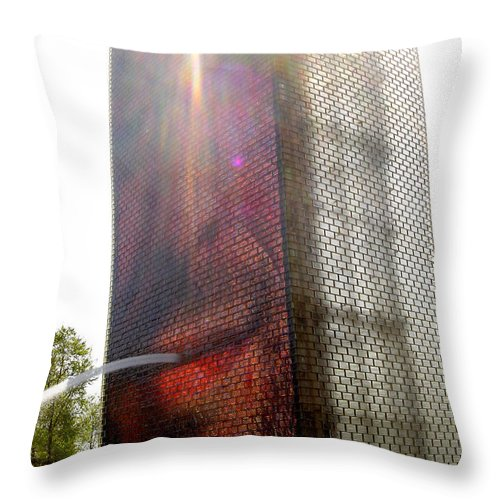 Chicago Throw Pillow featuring the photograph Chicago Crown Fountain 4 by Jean Macaluso