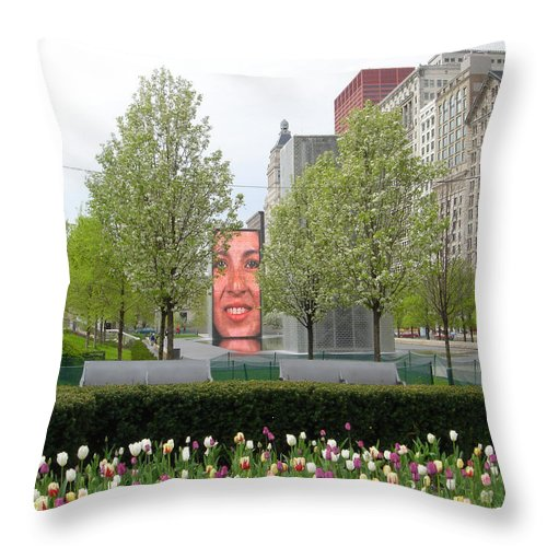 Chicago Throw Pillow featuring the photograph Chicago by Jean Macaluso