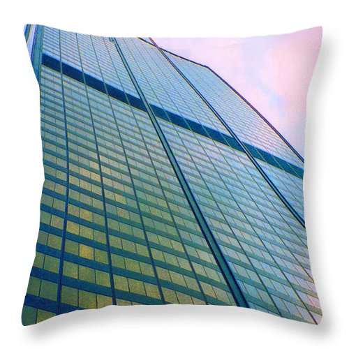 First Star Art By Jrr Throw Pillow featuring the photograph Chicago Sears Willis Tower Pop Art by First Star Art