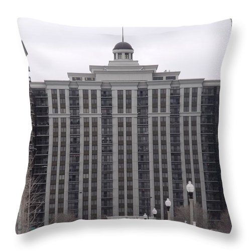 Chicago Throw Pillow featuring the photograph Chicago Street IIi by Anna Villarreal Garbis