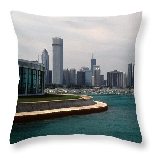 Chicago Throw Pillow featuring the photograph Chicago Waterfront by Gary Wonning