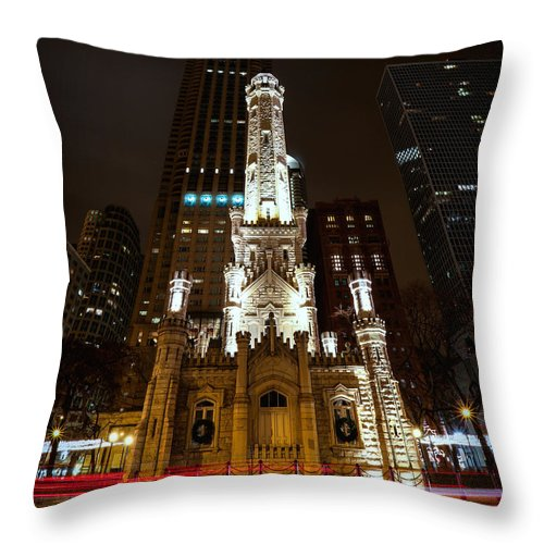Chicago Throw Pillow featuring the photograph Chicago's Water Tower by Ryan Smith