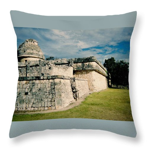 Chitchen Itza Throw Pillow featuring the photograph Chichen Itza 1 by Anita Burgermeister