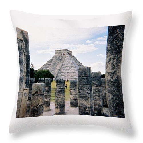 Chitchen Itza Throw Pillow featuring the photograph Chichen Itza 3 by Anita Burgermeister