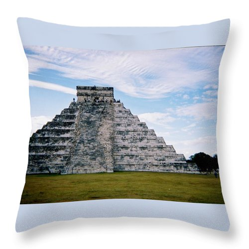 Chitchen Itza Throw Pillow featuring the photograph Chichen Itza 4 by Anita Burgermeister