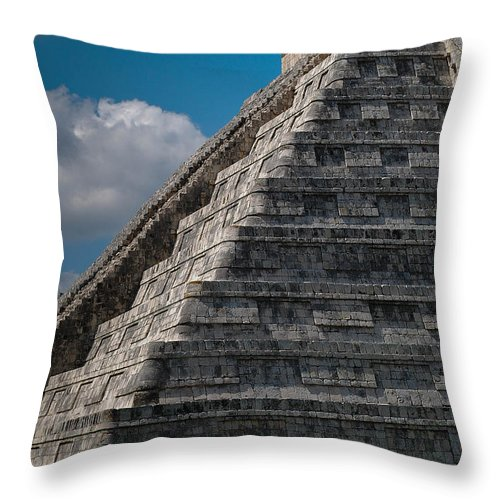Chichen Itza Throw Pillow featuring the photograph Chichen Itza by Juan Gnecco
