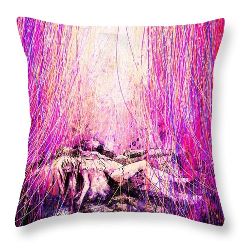 Abstract Throw Pillow featuring the digital art Child Of God by Rachel Christine Nowicki