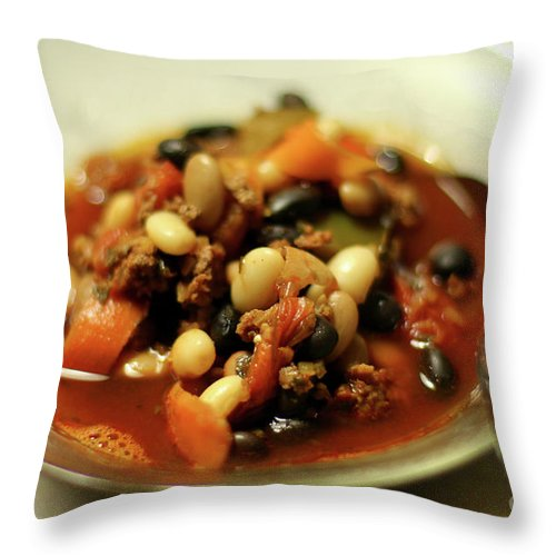 Food Throw Pillow featuring the photograph Chili by Joseph A Langley