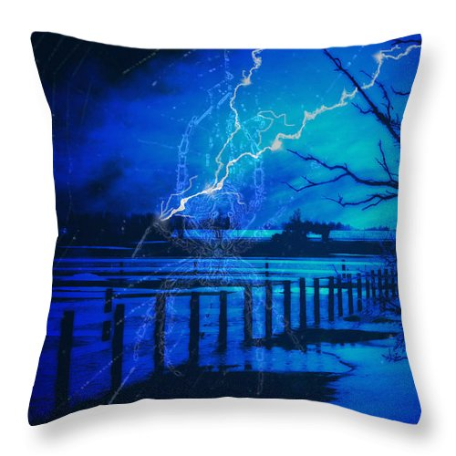 Chill Throw Pillow featuring the digital art Chill In The Air by Cathy Beharriell