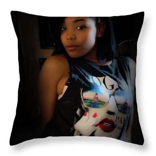 People Throw Pillow featuring the photograph Chilling by JB Thomas