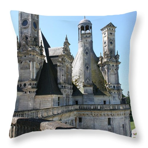 Chimney Throw Pillow featuring the photograph Chimney From Chambord - Loire by Christiane Schulze Art And Photography