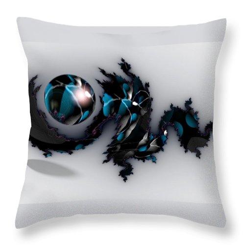 China Dragon Rythm Float Dance Throw Pillow featuring the digital art China Dragon by Veronica Jackson