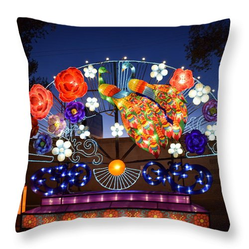 Lanterns Throw Pillow featuring the photograph Chinese Lantern Festival by Kirsten S