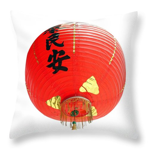 Lantern Throw Pillow featuring the photograph Chinese Traditional Lantern by Yali Shi