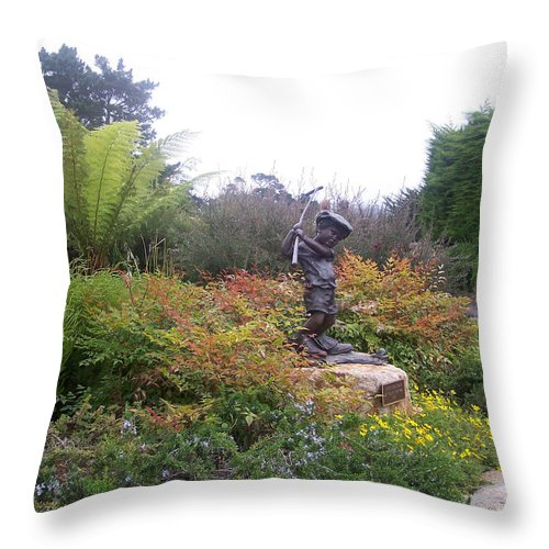Child Throw Pillow featuring the photograph Chip Off The Old Block by Pharris Art
