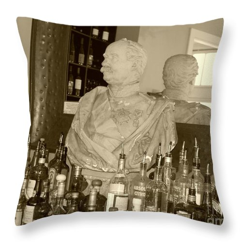 Bust Throw Pillow featuring the photograph Chipped Reflection by Debbi Granruth