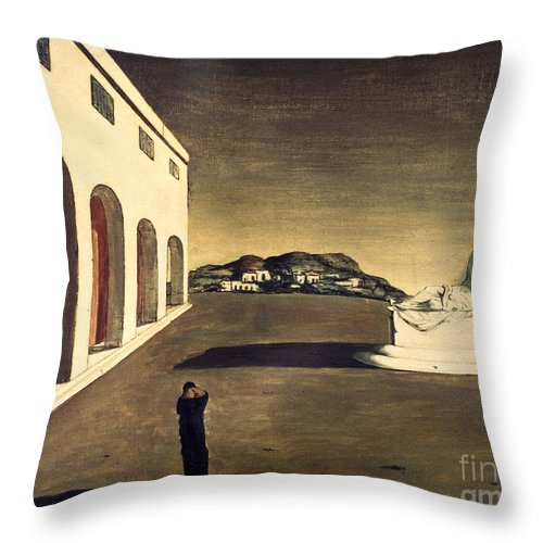 1913 Throw Pillow featuring the photograph Chirico: Melancolie, 1913 by Granger
