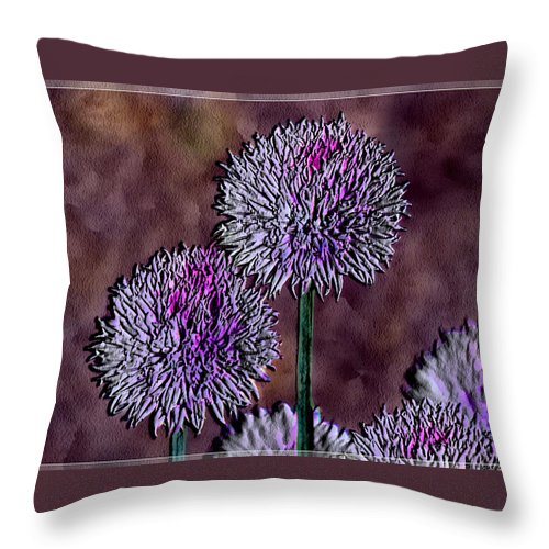 Ebsq Throw Pillow featuring the photograph Chives by Dee Flouton